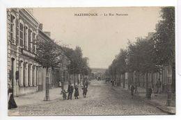 - CPA HAZEBROUCK (59) - La Rue Nationale (avec Personnages) - Edition Huygue-Vasseur - - Hazebrouck