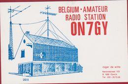 QSL Card Amateur Radio Station CB 1982 Roger De Witte Opwijk Belgie Belgium - Radio Amateur
