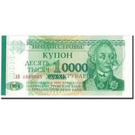 Transnistrie, 10,000 Rublei On 1 Ruble, 1996, OLD DATE (1994), KM:29, NEUF - Moldavie