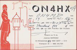 QSL Card Amateur Radio Station CB 1975 Gent Illustrator Gravensteen Kanneschijters Belfort Wachter - Radio Amatoriale