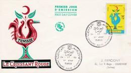 TUNISIE / FDC / Croissant Rouge Tunis Tunisie 24/10/1959 - Tunisie (1956-...)