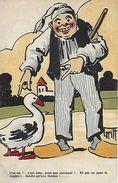 CPA HUMOUR. Illustrateur GRIFF.  Une Oie !..c'est Bête, Mais Pas Méchant !  , Paysan En Sabot, Oie. .CO 051 - Griff