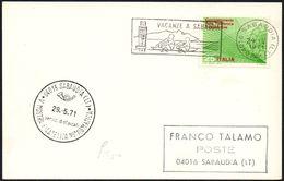 ROWING - ITALIA SABAUDIA (LT) 1971 - VACANZE A SABAUDIA - V MOSTRA FILATELICA NUMISMATICA - Canottaggio