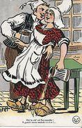 CPA HUMOUR. Illustrateur GRIFF.  Viv' Le Cid' Ed Normandie !..., Etc. Paysans Normand Amoureux En Sabot,. .CO 054 - Griff