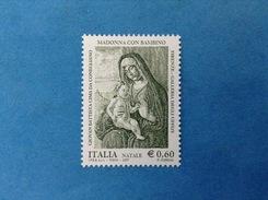 2007 ITALIA FRANCOBOLLO NUOVO STAMP NEW MNH** - NATALE MADONNA COL BAMBINO GIOVAN BATTISTA CIMA DA CONEGLIANO - Noël