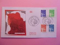 FRANCE FDC 1997 YVERT 3090 ET 3092, 3094/95 NOUVELLE MARIANNE - 1990-1999