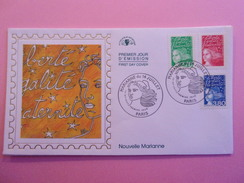 FRANCE FDC 1997 YVERT 3083, 3091 ET 3093 NOUVELLE MARIANNE - 1990-1999