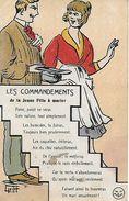 CPA HUMOUR. Illustrateur GRIFF.  Les Commandements De La Fille à Marier. .CO 056 - Griff