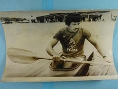 Photo De Presse (18 Cm X 13 Cm) Canoe Alain Lebas /25/ - Sports