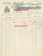 Facture Ancienne  BAR LE DUC (Meuse) -  SOCIETE BARRISIENNE ALIMENTATION - MARTIN HUEST CHAUDRON & C° - 1900 – 1949