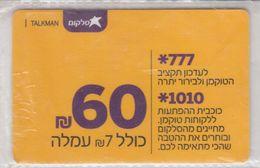 ISRAEL CELLCOM TALKMAN 60 SHEKEL USED PHONE CARD - Israel