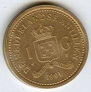 Antilles Neérlandaises Netherlands Antilles 1 Gulden 1991 KM 37 - Netherland Antilles