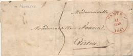 851/25 - Lettre De NAMUR 1841 Vers VIRTON - Origine Manuscrite FLOREFFE - Signée Votre Secrétaire - 1830-1849 (Belgica Independiente)
