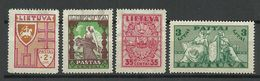 LITAUEN Lithuania 1934 Michel 394 & 397 - 398 & 401 * - Lithuania