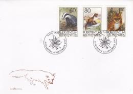 Liechtenstein FDC  1993 Animals   (DD12-36) - FDC