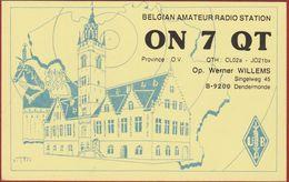 QSL Card Amateur Radio Station CB Belgian Dendermonde 1996 Illustrator Theo 1983 Werner Willems - Amateurfunk