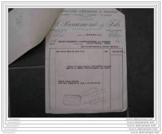 F 59 ROUBAIX  BEAUMONT Et Fils Rue D Hem Et AIXE SUR VIENNE Lot 2 Facture Et 1 Traite Manufacture Epingles 1951 - Textilos & Vestidos