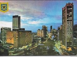 COLOMBIA - BOGOTA' - VEDUTA NOTTURNA - VIAGGIATA VIA AEREA 1983 - AFFRANCATURA MECCANICA ROSSA - Colombia