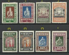 LITAUEN Lithuania 1933 Michel 364 - 371 A */(*) - Lithuania