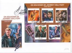 Enveloppe Collector Johnny Hallyday 1943 - 2017 Souvenir Hommage Cachet N°2 - Musique