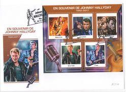 Enveloppe Collector Johnny Hallyday 1943 - 2017 Souvenir Hommage Cachet N°1 - Musique