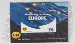 ISRAEL 012 EUROPE 250 MINUTES MINT SEALED PHONE CARD - Israel