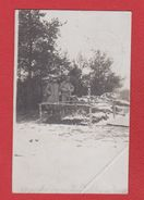 Secteur Auberive  - Carte Photo  -- Tombe D Un Soldat Du 23 Res Inf Div  -- 19/12/1914  --  Pliure Coin - France