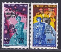 DAHOMEY AERIENS N°  107 & 108 ** MNH Neufs Sans Charnière, TB (D4063) Cosmos, Apollo 11 - Benin - Dahomey (1960-...)