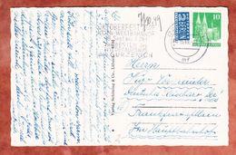 AK Koeln, EF Dom + Notopfer, MS Oktoberfest Westbahnhof Wiederaufbau Guerzenich, Nach Frankfurt 1949 (45015) - Zone Anglo-Américaine