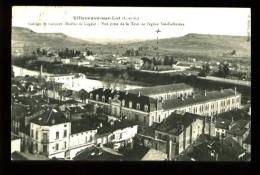 VILLENEUVE-SUR-LOT (47) - Collège De Garçons, Moulin De Gageac - Vue Prise De La Tour De L'Eglise Ste-Catherine - Villeneuve Sur Lot