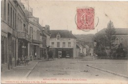 J30-  10)  AIX EN OTHE  (AUBE) LA PLACE ET LA RUE DU CHATEAU - France