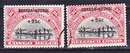 Ruanda - Urundi Nr 77-78  Obliteré - Gestempeld -used  (O) - Ruanda-Urundi