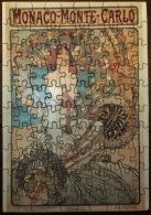 PUZZLE MUCHA- MONACO-  MONTÉ-CARLO- 100 PIECES-  31 X 22,5 Cm- SOUS BLISTER-  2 SCANS - Puzzle Games