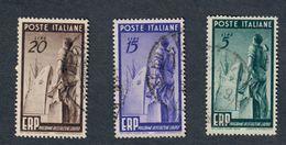 1949 Erp Usata SASSONE S.138 COD.FRA.230 - 6. 1946-.. Repubblica