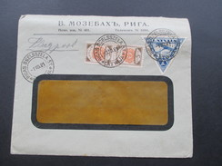 Lettland 1921 Flugpost MiF Nr. 31 Und 76. Rigas Dselsszela St. Latwija. Toller Beleg!! Mit Luftpst Befördert Königsberg - Latvia