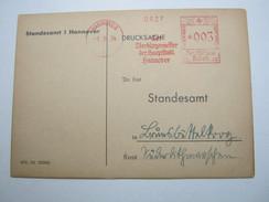1934 , HANNOVER , Glasklarer Firmen - Freistempel Auf Karte - Deutschland