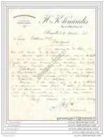 13 1566 MARSEILLE 1888 Importation Exportation H. KLONARIDIS Rue De La Republique ( De CONSTANTINOPLE GRECE ) - Unclassified