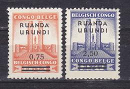 Ruanda - Urundi Nr 124-125  Neufs  - Postfris MNH  (XX) - 1924-44: Ungebraucht