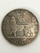MENELIK 1/2 Birr 1889 A Etiopia - Ethiopia Silver - Argento - Plata - Ethiopia