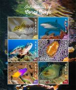 Nevis 2017 Animals Coral Reef - Stamps