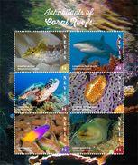 Nevis 2017 Animals Coral Reef - Postzegels