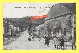 CPA 55 TREVERAY - RUE De BAR Le DUC Grosse Animation - France