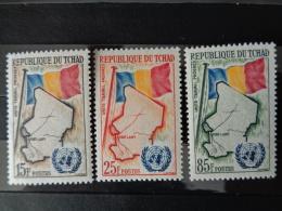 TCHAD 1961 Y&T N° 63 à 65 ** - ADMISSION DU TCHAD AUX NATIONS UNIES - Tchad (1960-...)