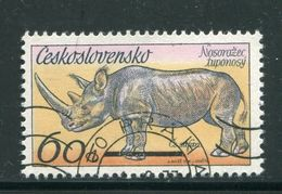 TCHECOSLOVAQUIE- Y&T N°2185- Oblitéré - Rhinozerosse