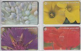 ISRAEL 1998 FLOWERS ALLIUM GARLIC OXALIS CENTAUREA ANEMONE SET OF 4 CARDS - Israel