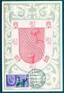 1957 , SAHARA ESPAÑOL , ED. 130 - DIA DEL SELLO , ESCUDOS , MAT. VILLA CISNEROS / COLONIA DE RIO DE ORO - Sahara Español