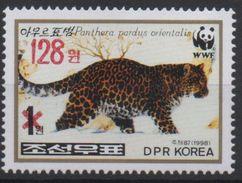 North Korea 2006 OVERPRINT Faune Fauna Panther Panthère Leopard WWF MNH** RARE - Unused Stamps