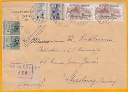 1928 - Lettre Reco D' Aix En Provence à Strasbourg-Neudorf - Bel Affranchissement 1 F 50 C Orphelins - Poststempel (Briefe)