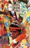 VANUATU 60 UNITS OLD WOMAN  PEOPLE OF VANUATU CHIP SC7 VAN-05 USED CV US$40 READ DESCRIPTION !! - Vanuatu