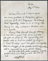 1940 Crown Prince, King Norway, HMS Glasgow WW2 Escape Letter (Duplicate / Copy) - 1939-45